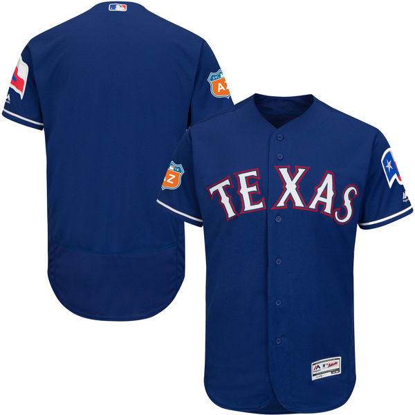 2017 MLB Texas Rangers Blank Blue Jerseys