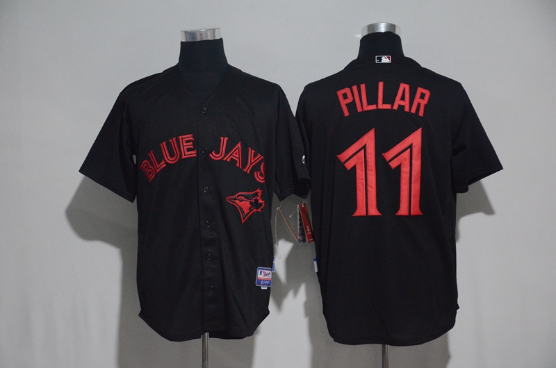 2017 MLB Toronto Blue Jays 11 Pillar Black Jerseys