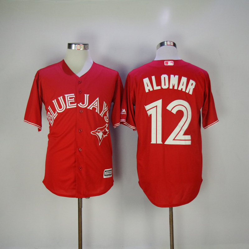 2017 MLB Toronto Blue Jays 12 Alomar Red Game Jerseys