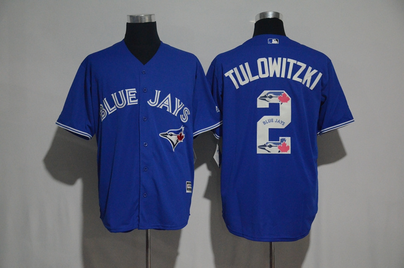 2017 MLB Toronto Blue Jays 2 Tulowitzki Blue Fashion Edition Jerseys