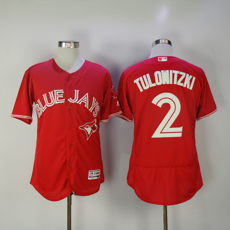 2017 MLB Toronto Blue Jays 2 Tulowitzki Red Elite Jerseys