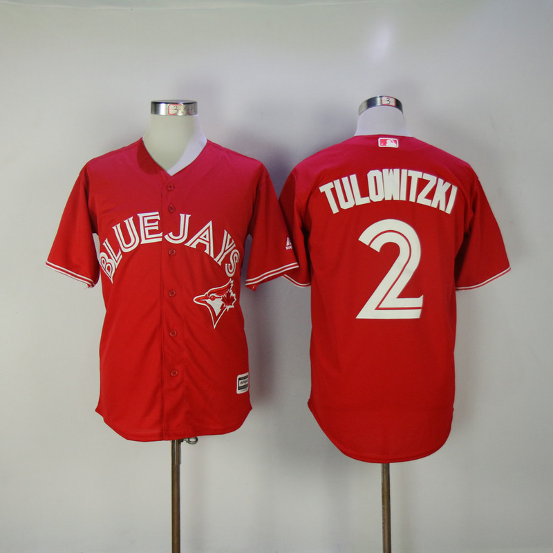 2017 MLB Toronto Blue Jays 2 Tulowitzki Red Game Jerseys