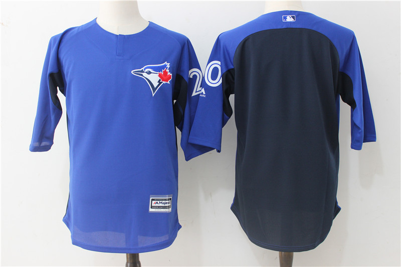 2017 MLB Toronto Blue Jays 20 Blue Practice clothes Jerseys