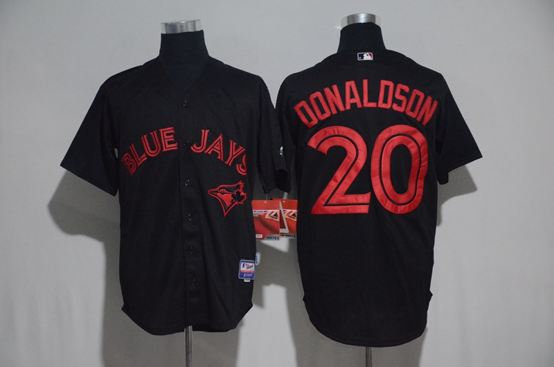 2017 MLB Toronto Blue Jays 20 Donaldson Black Jerseys