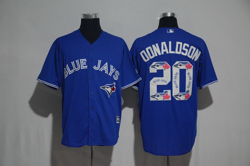 2017 MLB Toronto Blue Jays 20 Donaldson Blue Fashion Edition Jerseys
