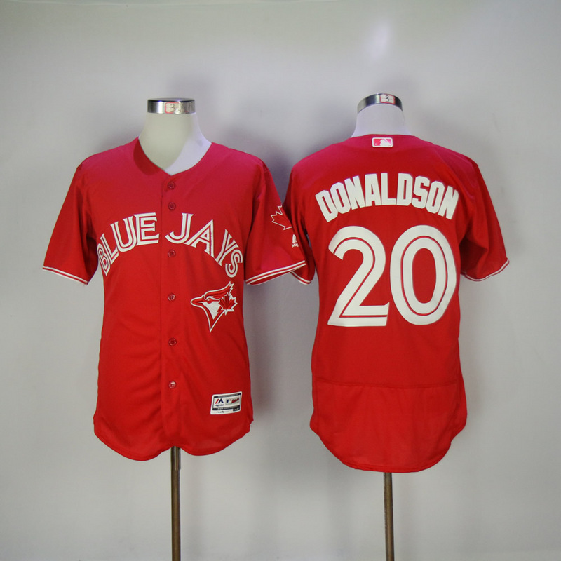2017 MLB Toronto Blue Jays 20 Donaldson Red Elite Jerseys
