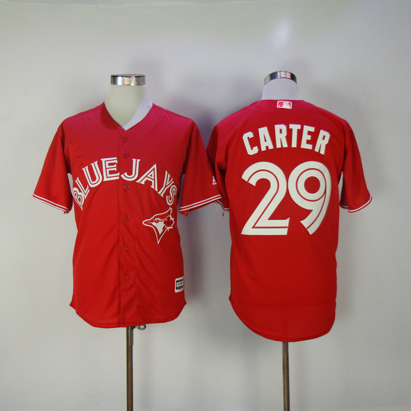 2017 MLB Toronto Blue Jays 29 Carter Red Game Jerseys