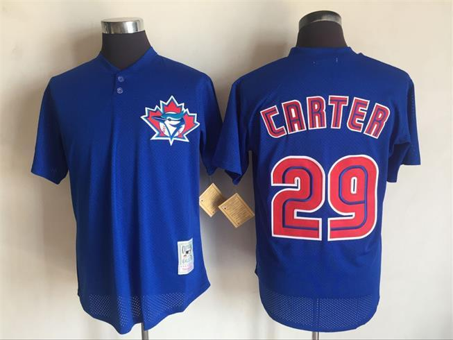 2017 MLB Toronto Blue Jays 29 Joe Carter Blue Throwback Jerseys
