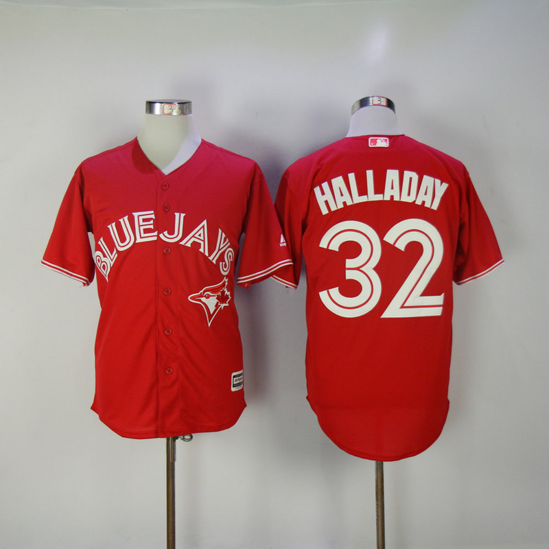 2017 MLB Toronto Blue Jays 32 Halladay Red Game Jerseys