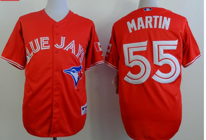 2017 MLB Toronto Blue Jays 55 Martin Red Game Jerseys