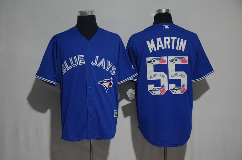 2017 MLB Toronto Blue Jays 55 Martin Blue Fashion Edition Jerseys