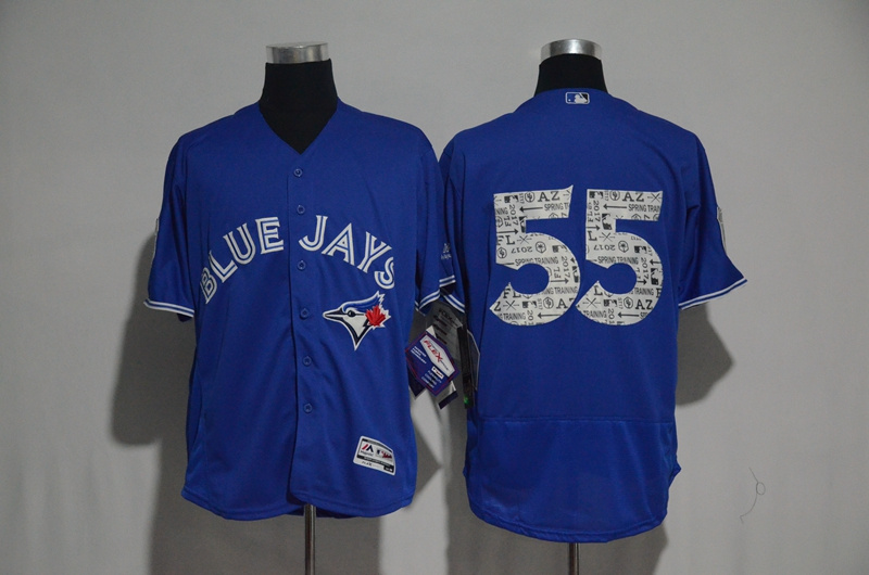 2017 MLB Toronto Blue Jays 55 no name Blue Fashion Edition Jerseys