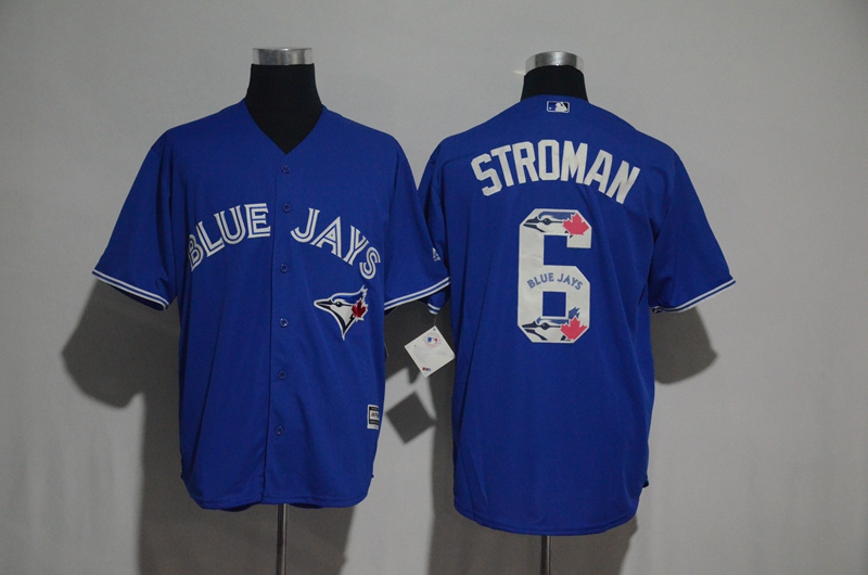 2017 MLB Toronto Blue Jays 6 Stroman Blue Fashion Edition Jerseys