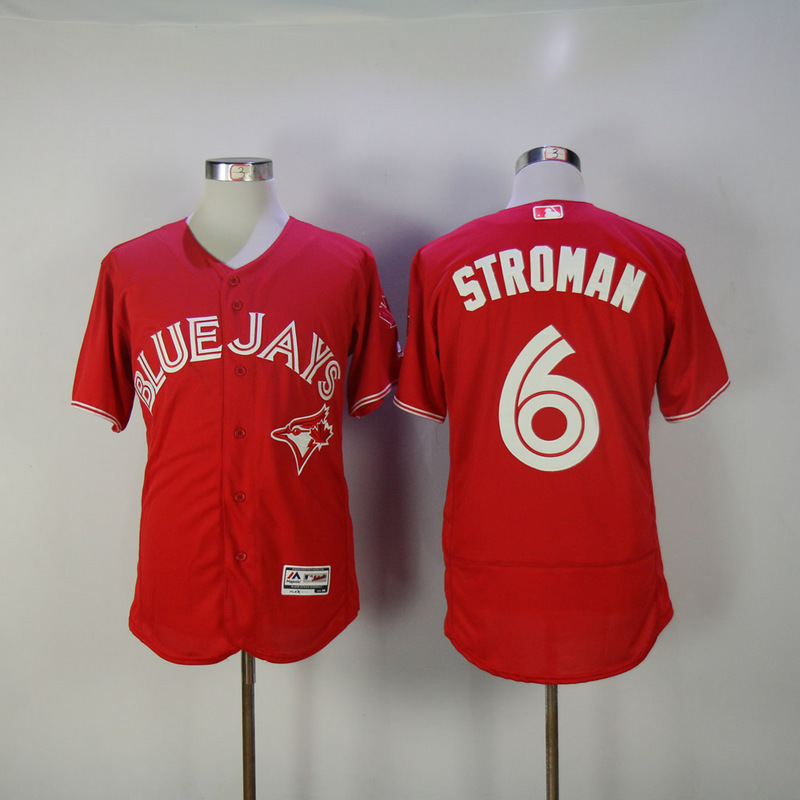 2017 MLB Toronto Blue Jays 6 Stroman Red Elite Jerseys