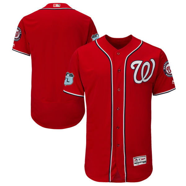 2017 MLB Washington Nationals Blank Red Jerseys