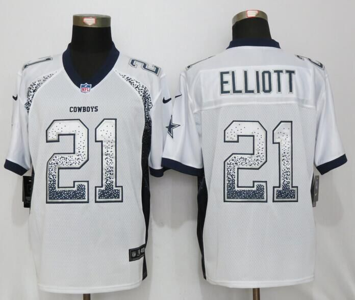 Dallas cowboys 21 Elliott Drift Fashion White NEW Nike Elite Jerseys