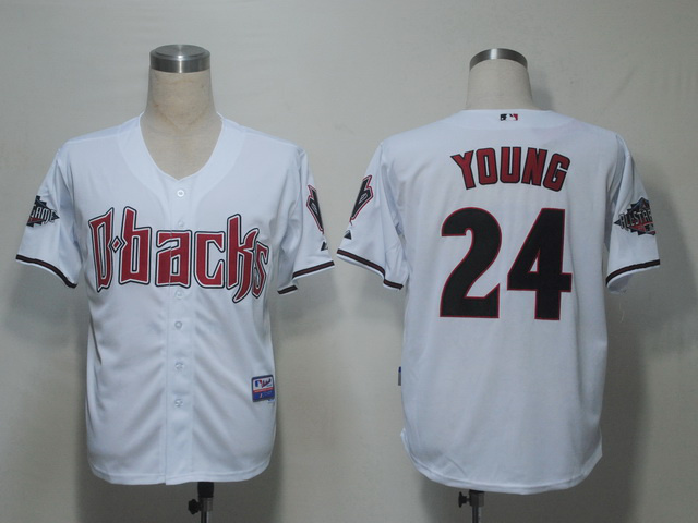 MLB Arizona Diamondbacks 24 Young White Jerseys