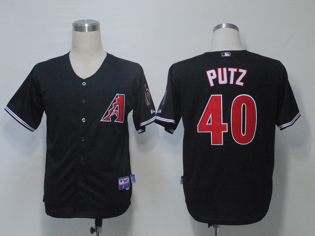 MLB Arizona Diamondbacks 40 Putz Black Jerseys