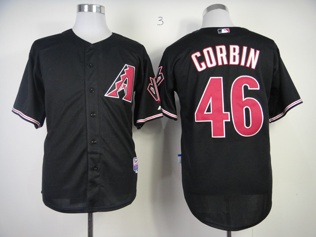 MLB Arizona Diamondbacks 46 Patrick Corbin Black Jerseys
