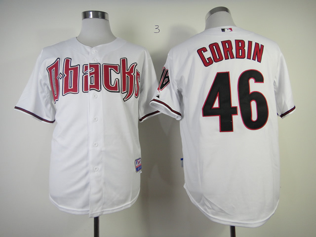 MLB Arizona Diamondbacks 46 Patrick Corbin White Jerseys