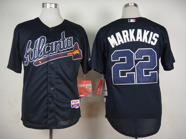 MLB Atlanta Braves 22 Markakis Blue 2015 Jerseys