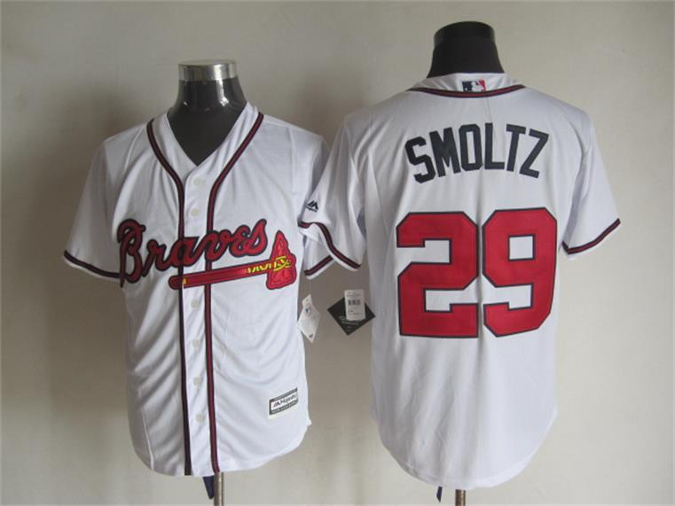 MLB Atlanta Braves 29 John Smoltz White 2015 Jerseys