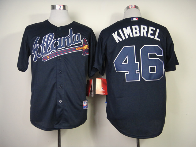 MLB Atlanta Braves 46 Craig Kimbrel Blue Jerseys