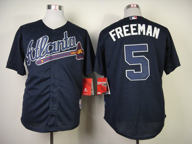 MLB Atlanta Braves 5 Freddie Freeman Blue Jerseys