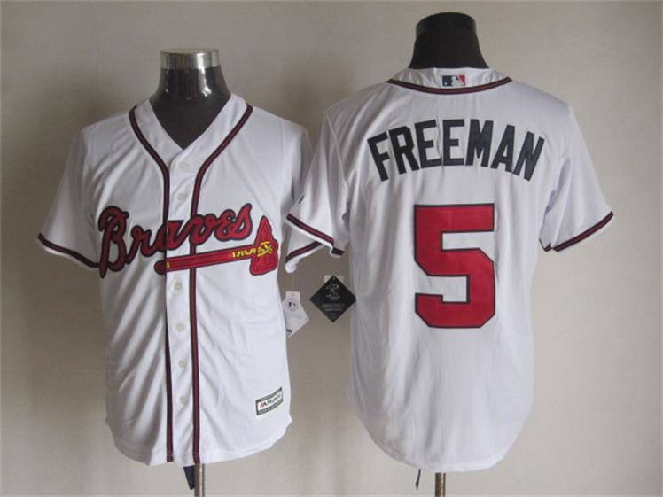 MLB Atlanta Braves 5 Freddie Freeman White 2015 Jerseys