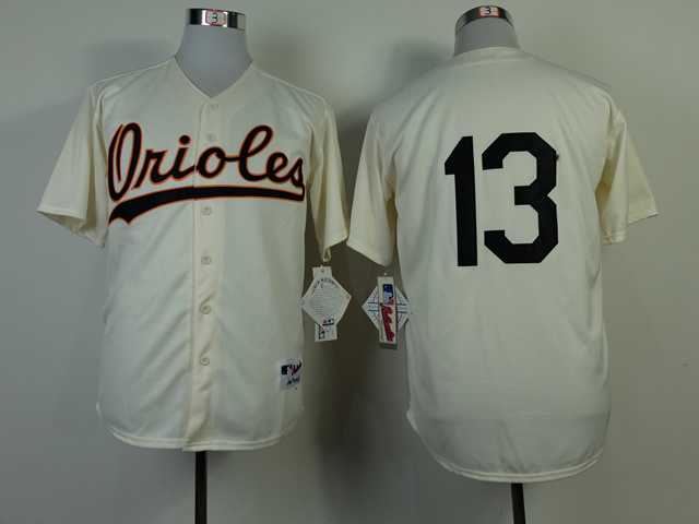 MLB Baltimore Orioles 13 Manny Machado 1954 Turn Back The Clock Jersey