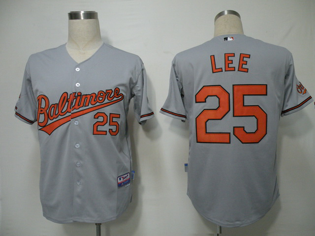 MLB Baltimore Orioles 25 Lee Grey Jerseys
