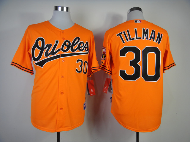 MLB Baltimore Orioles 30 Tillman Orange Jerseys