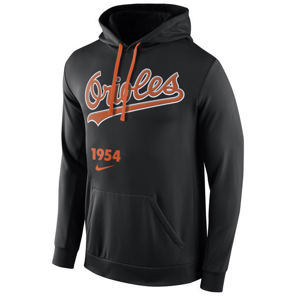 MLB Baltimore Orioles Nike Cooperstown Performance Pullover Hoodie - Black