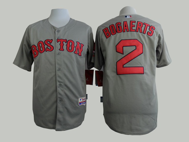 MLB Boston Red Sox 2 Bogaerts Grey 2015 Jerseys