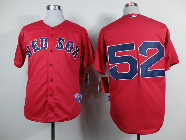 MLB Boston Red Sox 52 Yoenis Cespedes Red Jerseys
