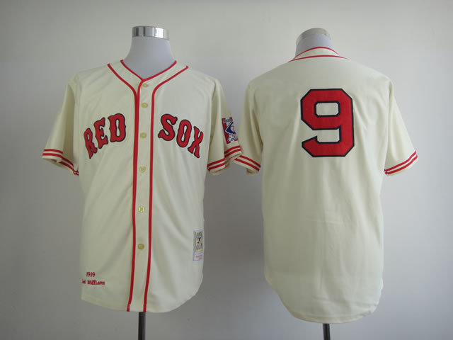 MLB Boston Red Sox 9 Ted Williams Gream Jerseys