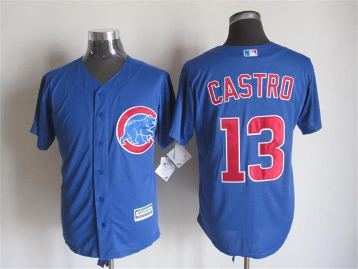 MLB Chicago Bears 13 castro blue 2015 New Fabric Jersey