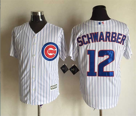 MLB Chicago Cubs 12 Kyle Schwarber White 2015 Jerseys
