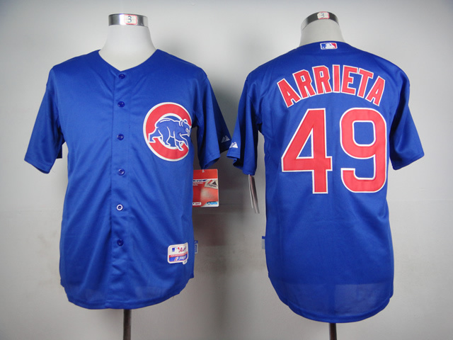 MLB Chicago Cubs 49 Jake Arrieta Blue 2015 Jerseys