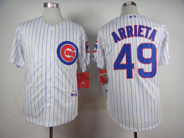 MLB Chicago Cubs 49 Jake Arrieta White 2015 Jerseys