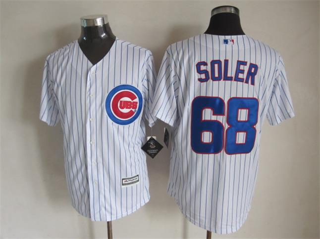 MLB Chicago Cubs 68 Soler White 2015 Jerseys