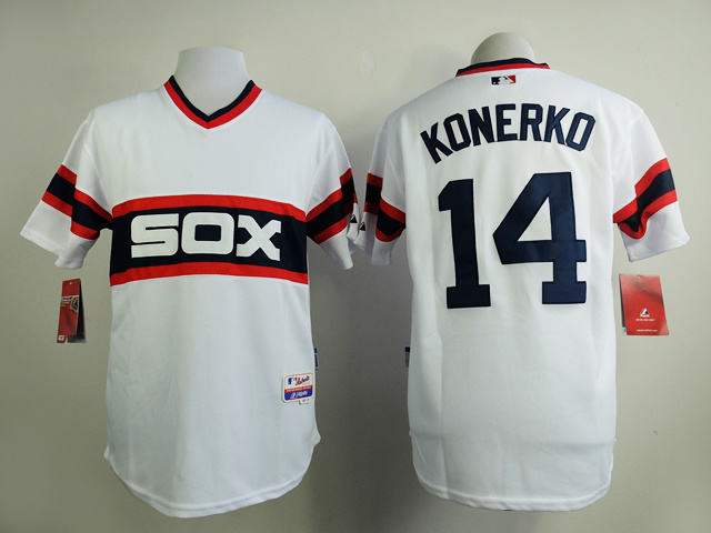 MLB Chicago White Sox 14 Paul Konerko Home Cool Base Jersey