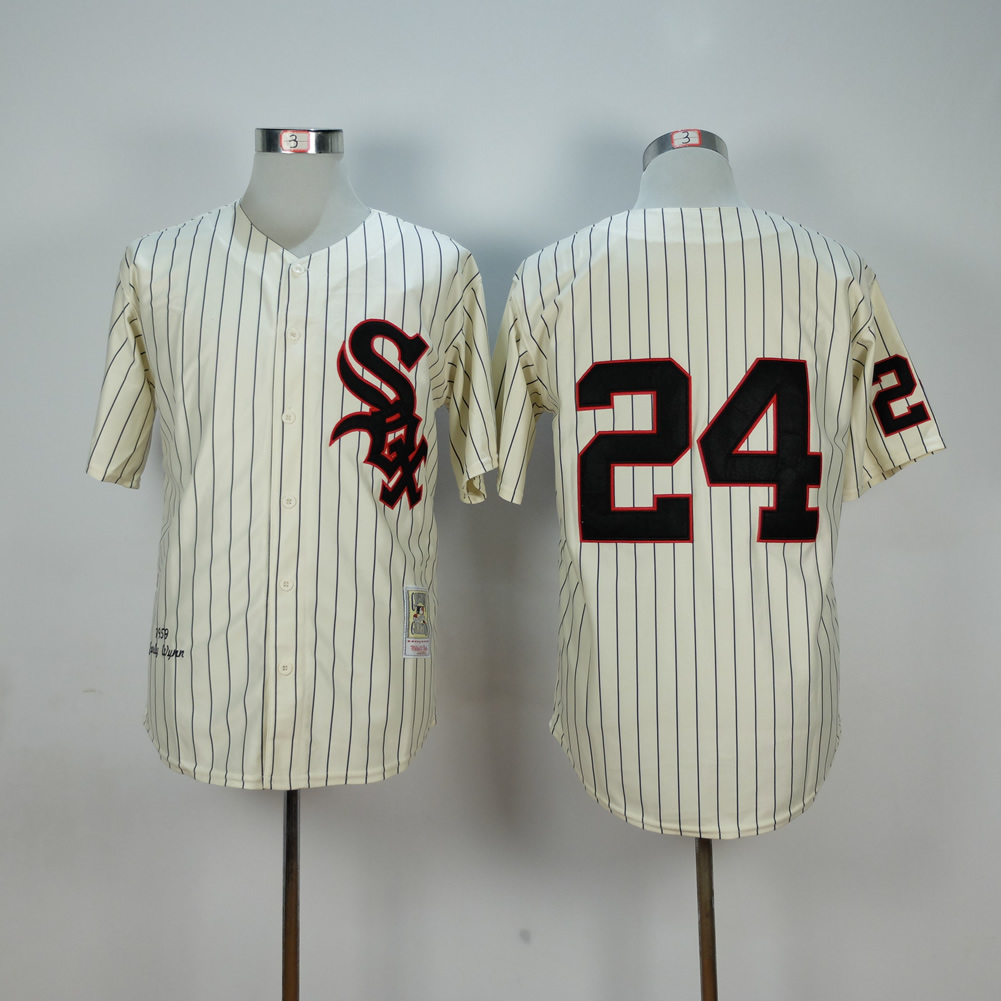 MLB Chicago White Sox 24 Cream 1959 Throwback Jerseys