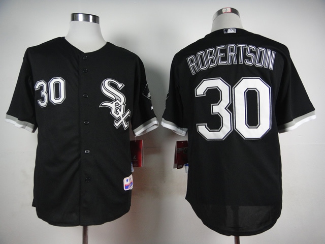 MLB Chicago White Sox 30 David Robertson Black 2015 Jerseys
