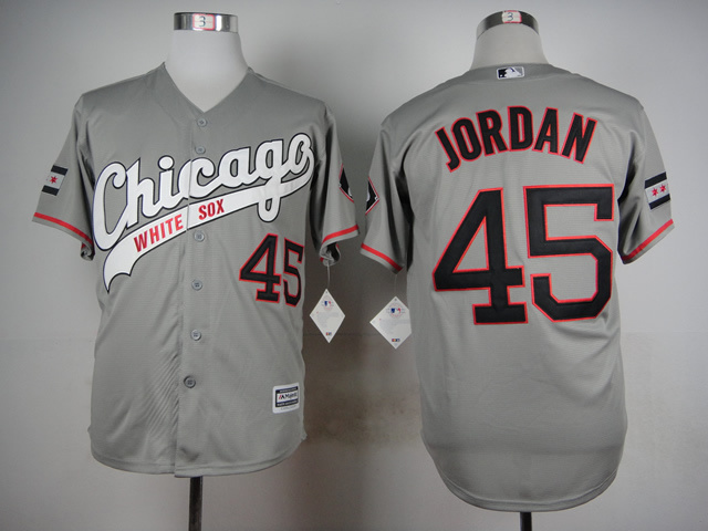 MLB Chicago White Sox 45 Jordan Grey 2015 Jerseys