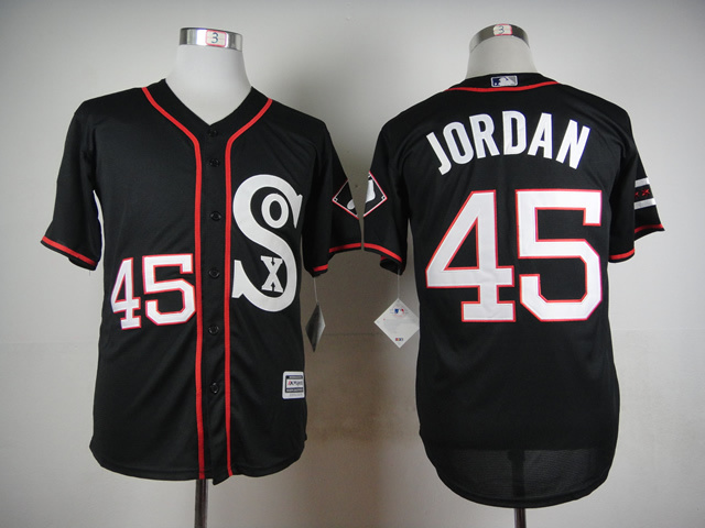 MLB Chicago White Sox 45 Michael Jordan 2015 Newest Style Black
