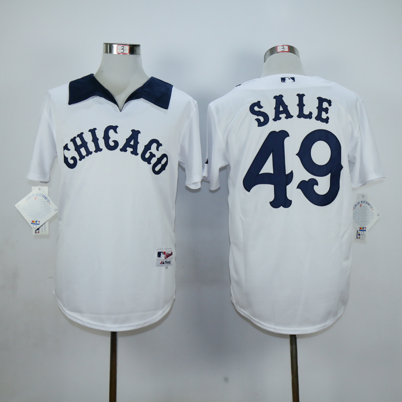 MLB Chicago White Sox 49 Chris Sale White Jersey