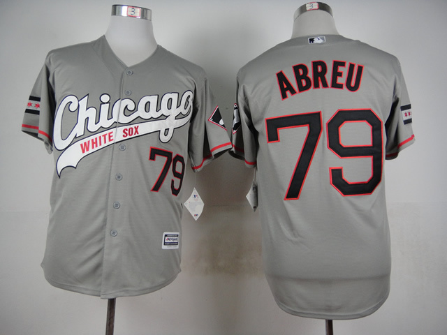 MLB Chicago White Sox 79 Abreu Grey 2015 Jerseys