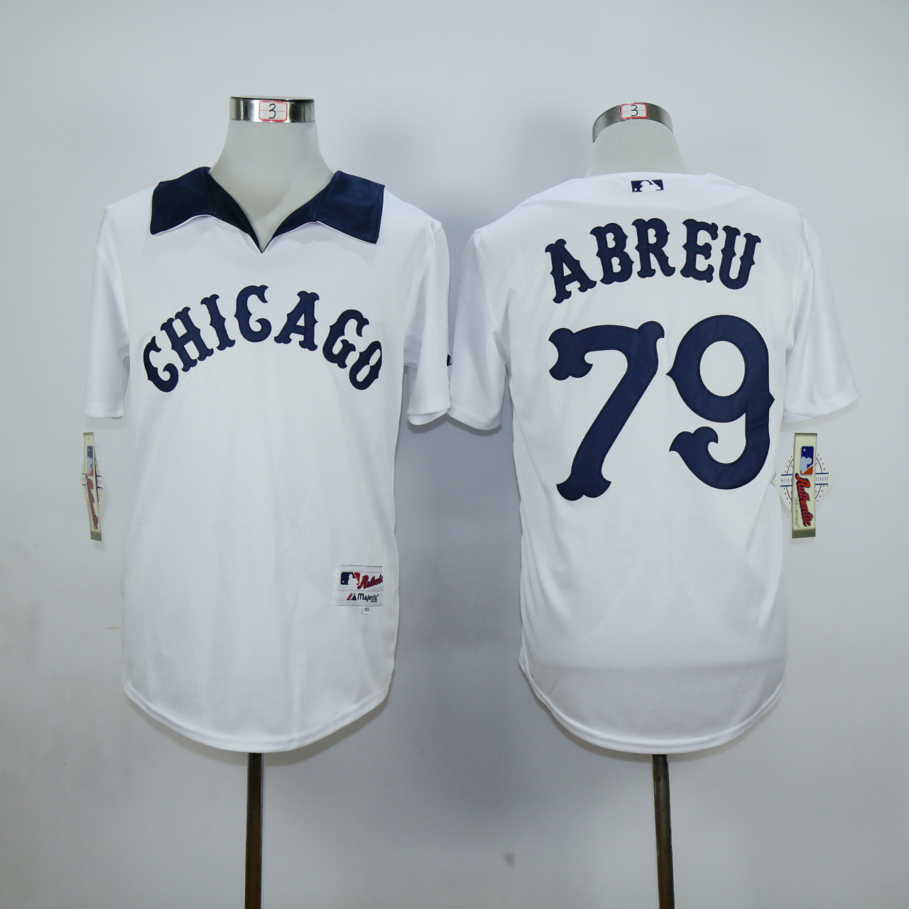 MLB Chicago White Sox 79 Abreu White Jersey