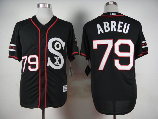 MLB Chicago White Sox 79 Jose Abreu 2015 Newest Style Black